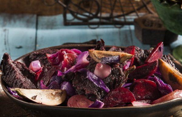 מתכון קדרת שפוננדרה ביין אדום עם ירקות אדומים